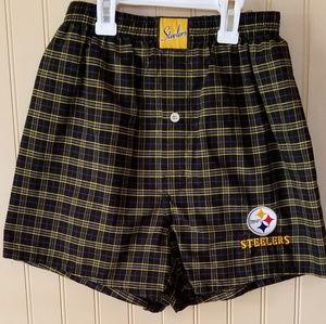 NWOT Reebok Pittsburgh Steelers boxers small